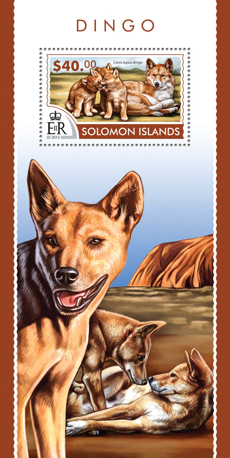 Dingos - Issue of Solomon islands postage stamps