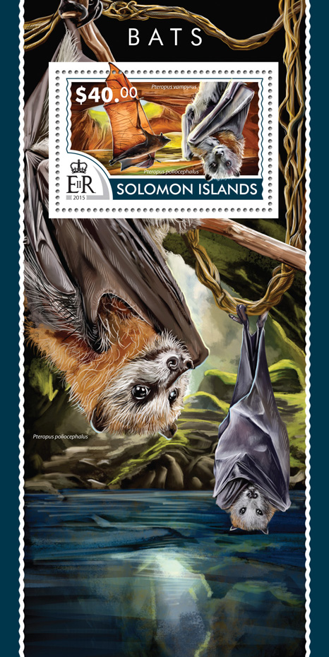 Bats - Issue of Solomon islands postage stamps