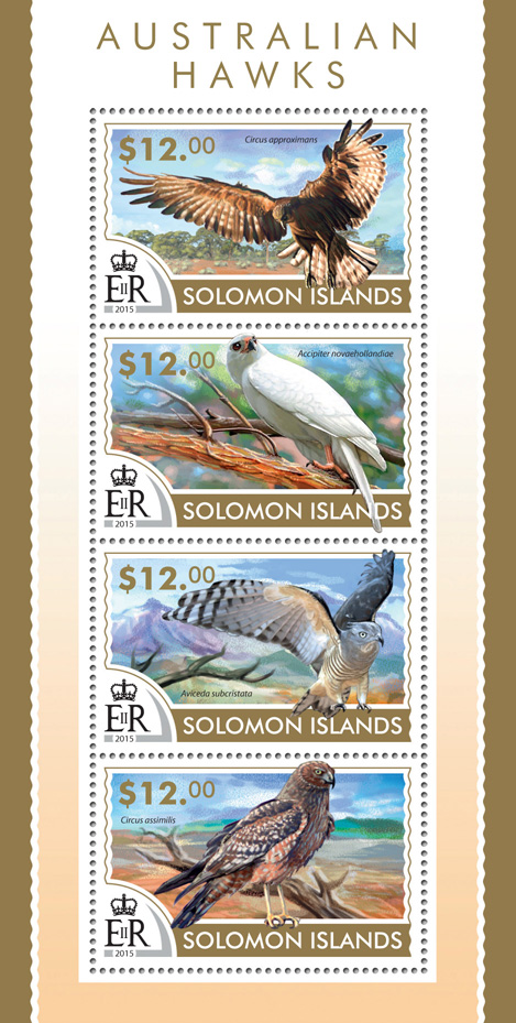 Hawks  - Issue of Solomon islands postage stamps