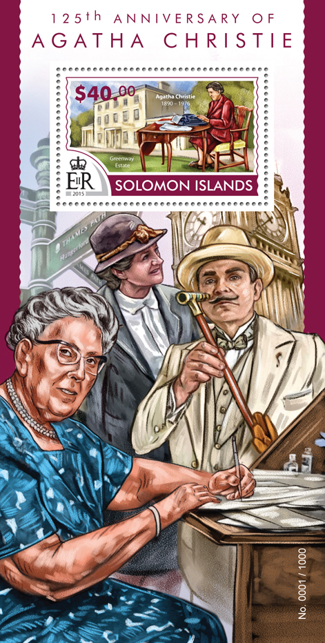 Agatha Christie - Issue of Solomon islands postage stamps