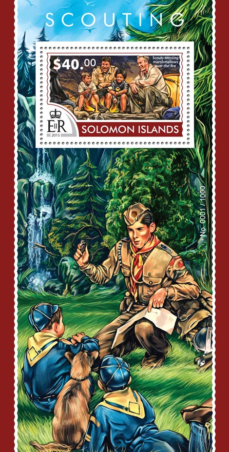 Scouting - Issue of Solomon islands postage stamps