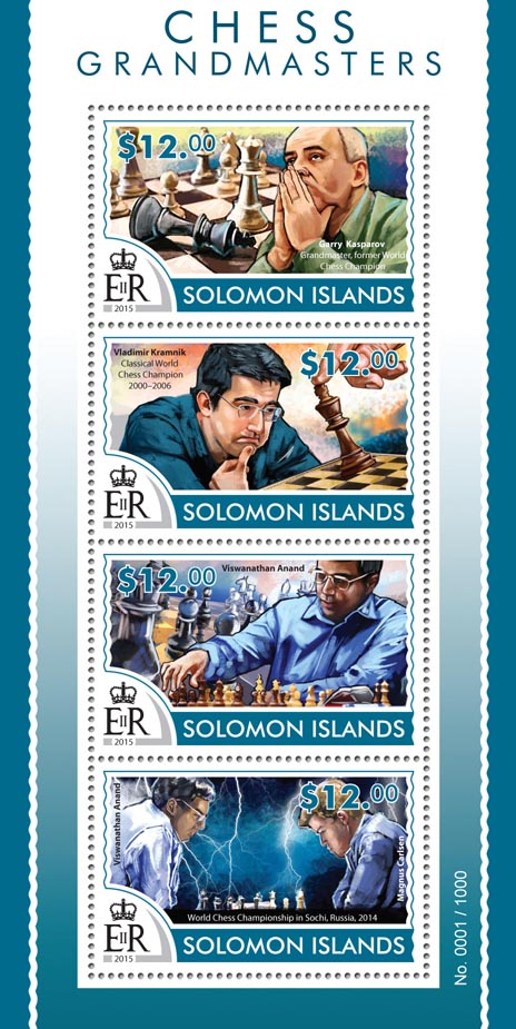 Chess - Issue of Solomon islands postage stamps