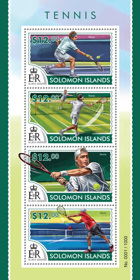 Tennis  - Issue of Solomon islands postage stamps