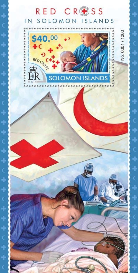 Red Cross - Issue of Solomon islands postage stamps