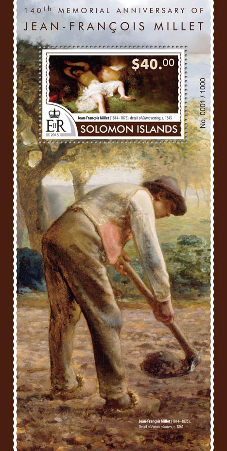 Jean-François Millet - Issue of Solomon islands postage stamps