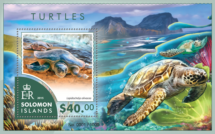 Turtles - Issue of Solomon islands postage stamps