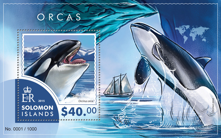 Orcas - Issue of Solomon islands postage stamps