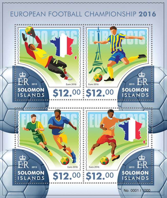 Football - Issue of Solomon islands postage stamps