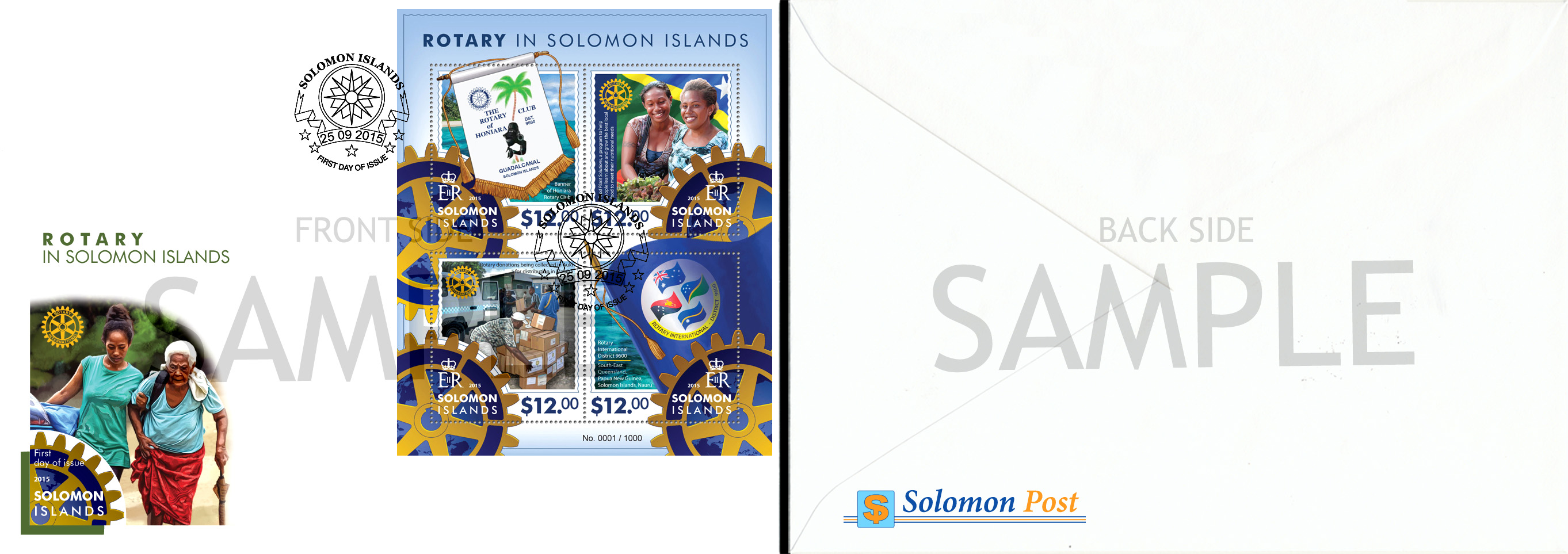 FDC Sample - Issue of Solomon islands postage stamps