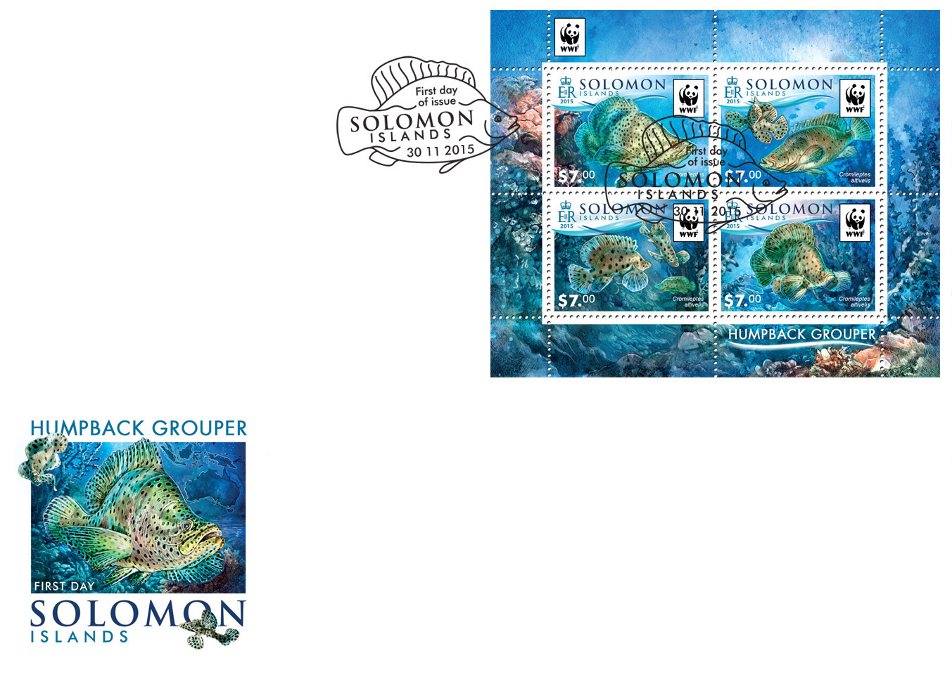 WWF – Fish (FDC) - Issue of Solomon islands postage stamps