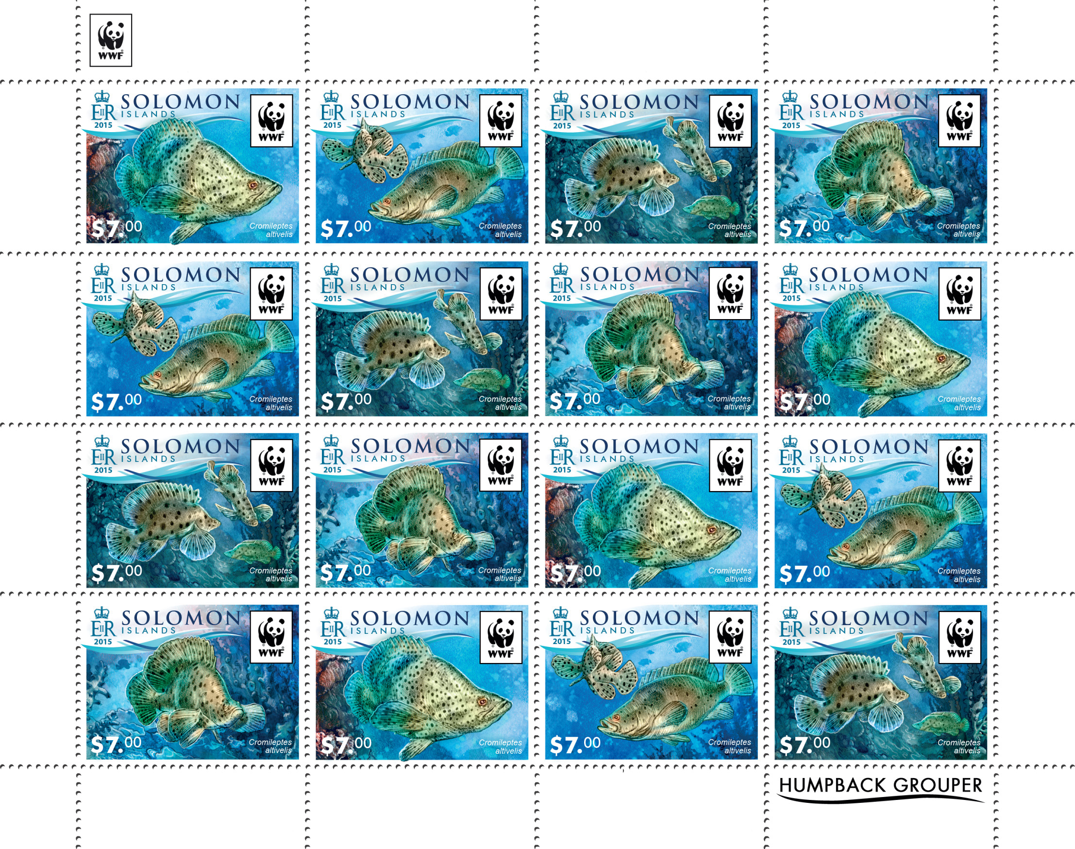 WWF – Fish (4 sets) - Issue of Solomon islands postage stamps