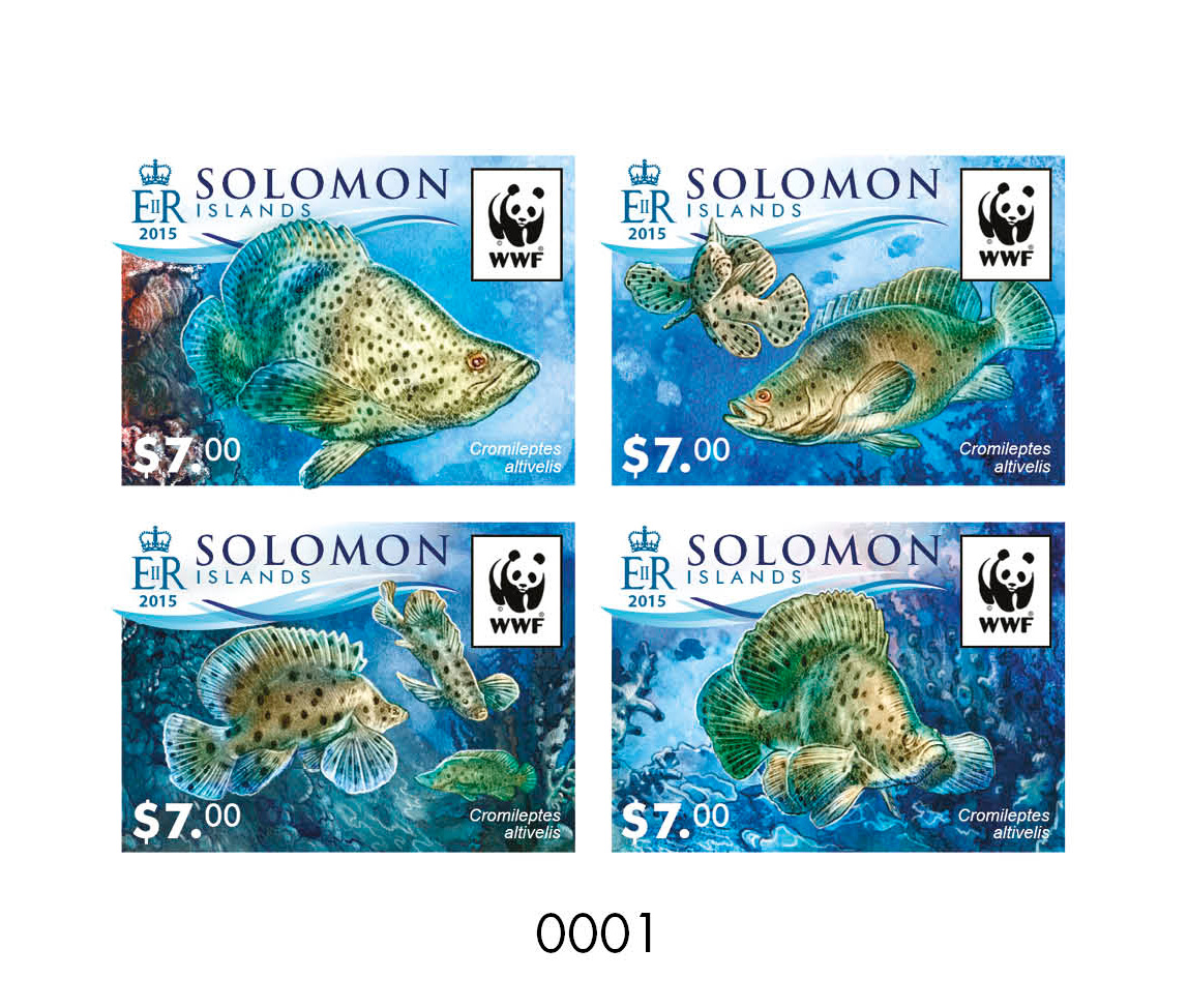 WWF – Fish (delux) - Issue of Solomon islands postage stamps
