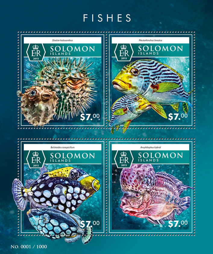 Fishes - Issue of Solomon islands postage stamps