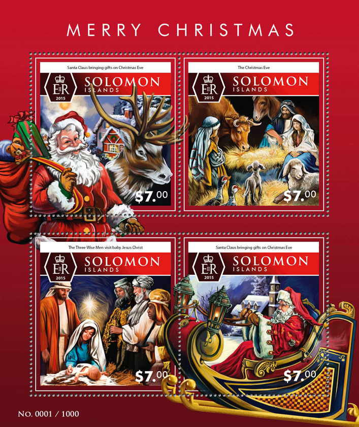 Merry Christmas - Issue of Solomon islands postage stamps