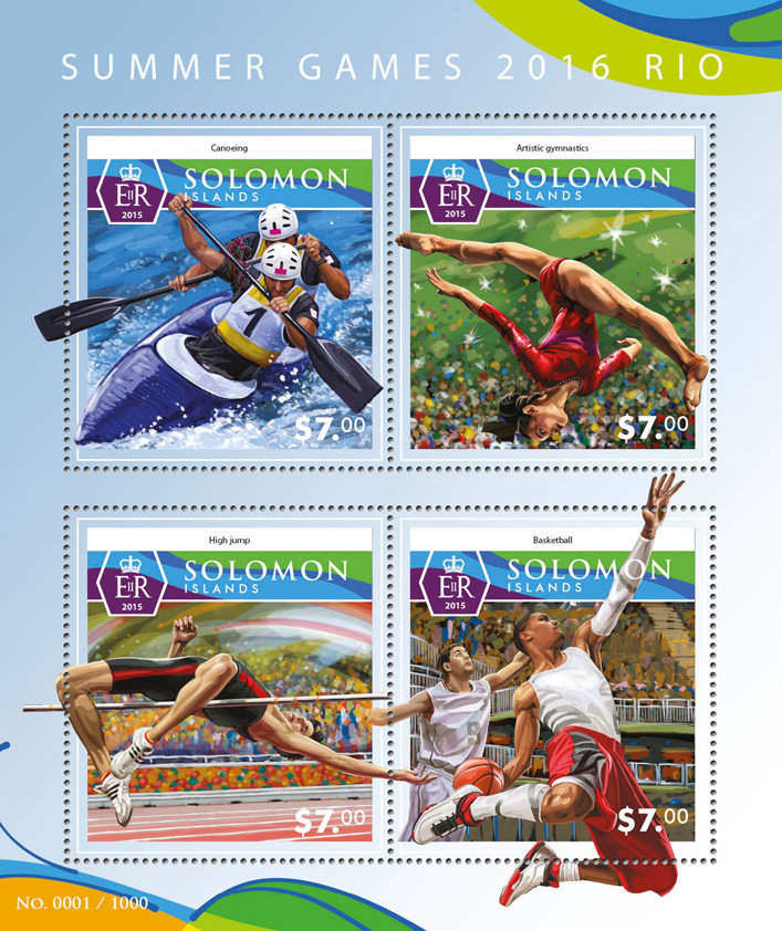 Summer Games 2016 - Issue of Solomon islands postage stamps