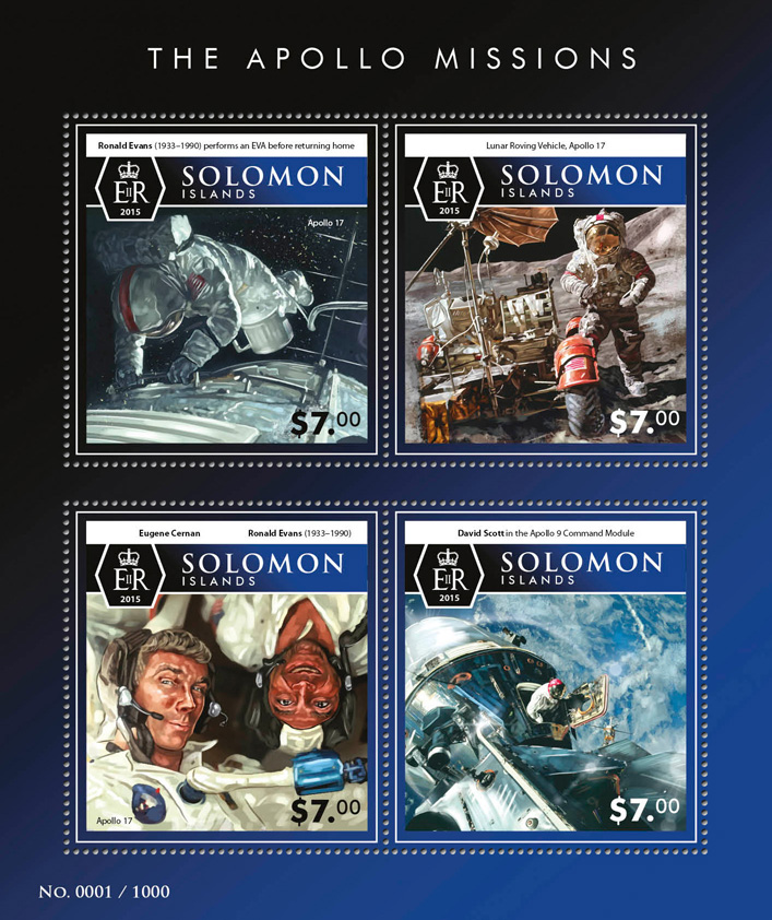 Space - Issue of Solomon islands postage stamps