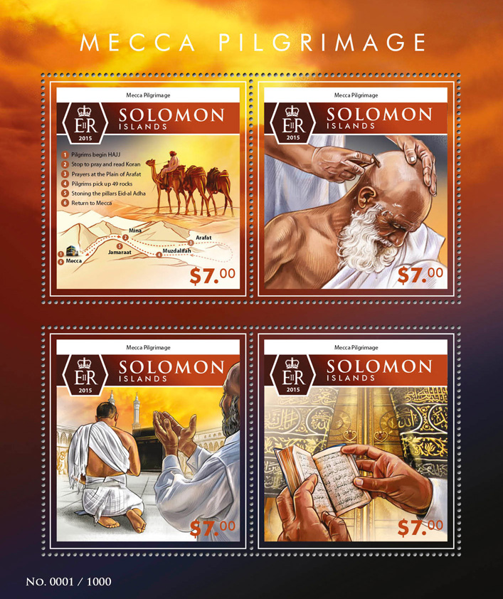 Mecca - Issue of Solomon islands postage stamps