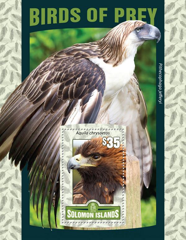 Birds of Prey - Issue of Solomon islands postage stamps