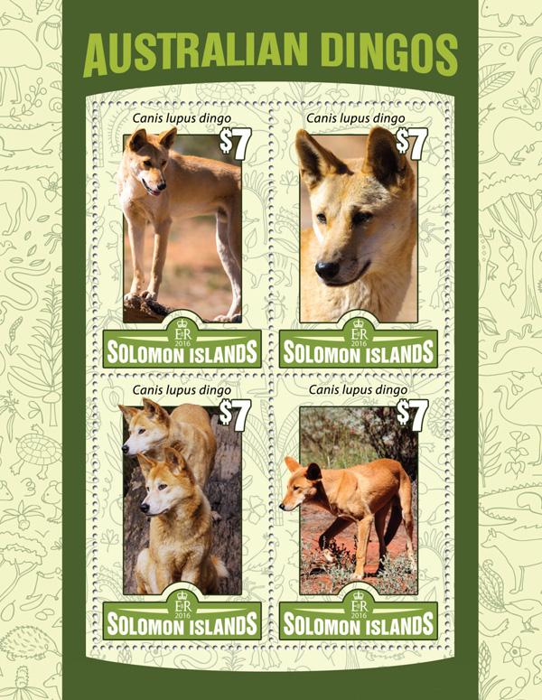 Australian Dingos - Issue of Solomon islands postage stamps