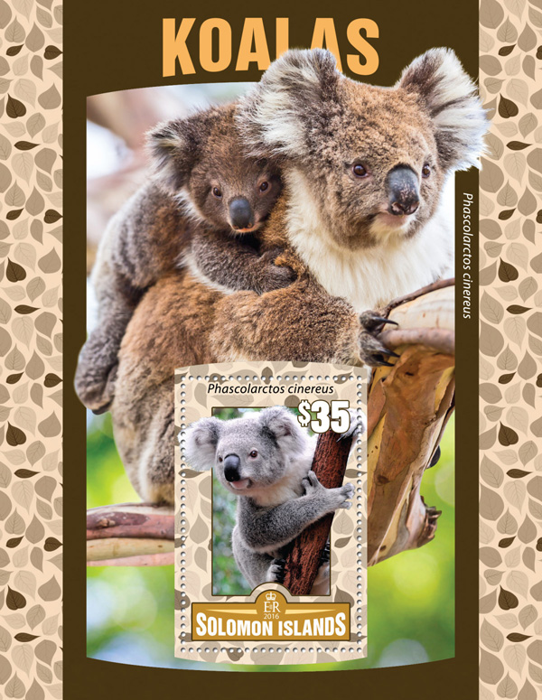 Koalas - Issue of Solomon islands postage stamps