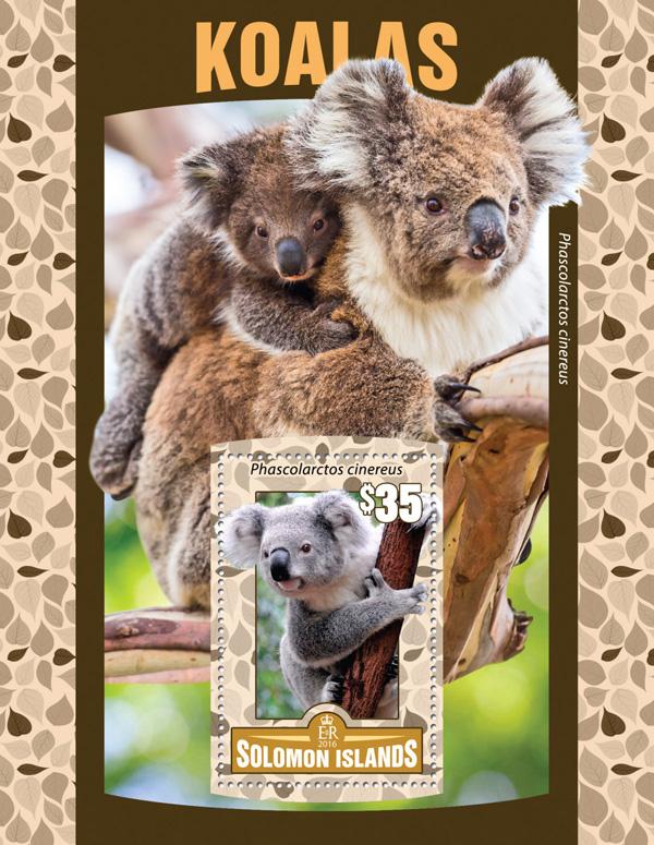 Koalas - Issue of Solomon islands postage stamps