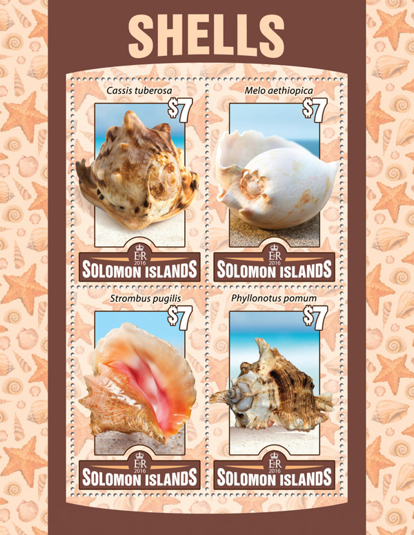 Shells - Issue of Solomon islands postage stamps
