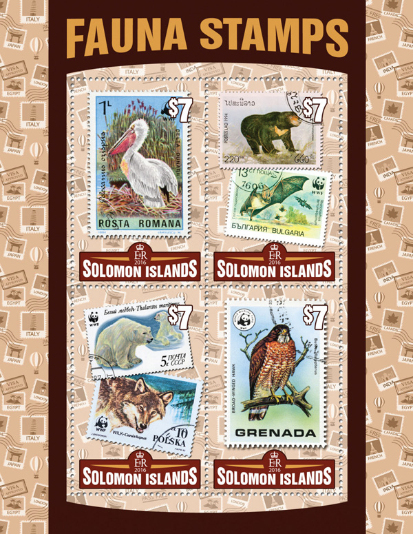 Fauna Stamps  - Issue of Solomon islands postage stamps
