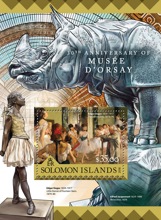 Musée d'Orsay - Issue of Solomon islands postage stamps