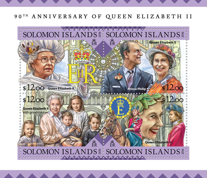 Queen Elizabeth II  - Issue of Solomon islands postage stamps