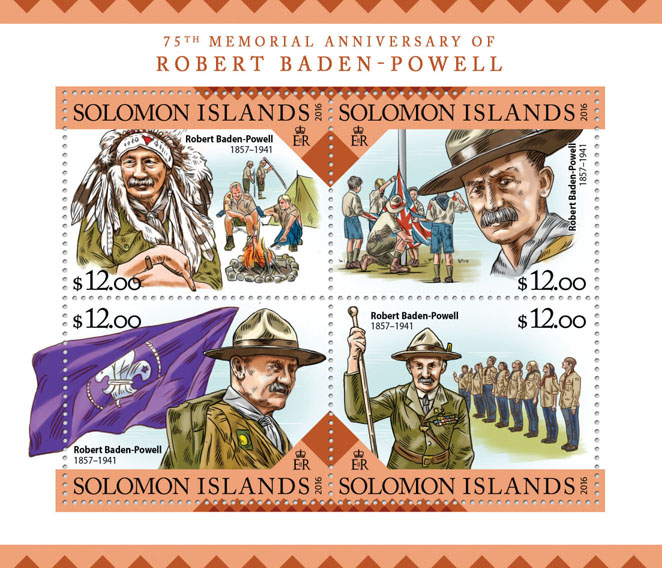 Robert Baden-Powell - Issue of Solomon islands postage stamps