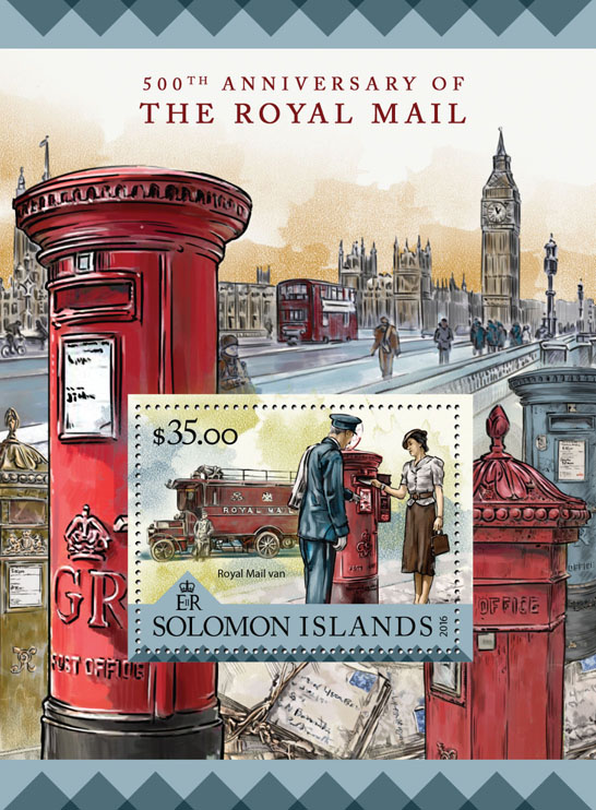Royal mail  - Issue of Solomon islands postage stamps