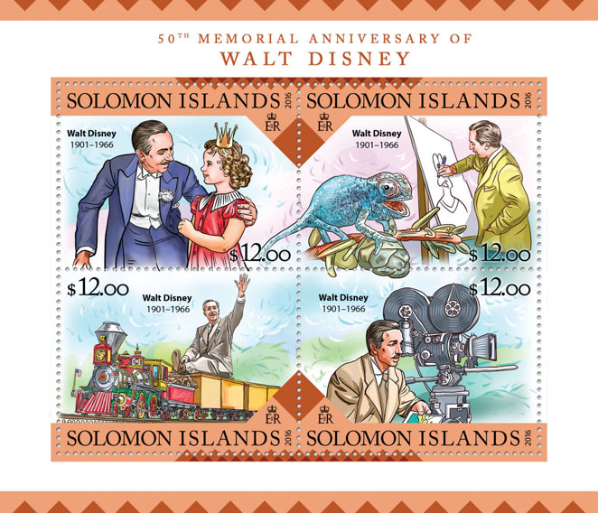 Walt Disney  - Issue of Solomon islands postage stamps