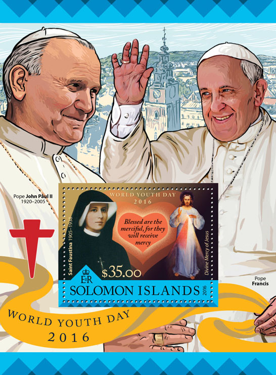 World Youth Day - Issue of Solomon islands postage stamps
