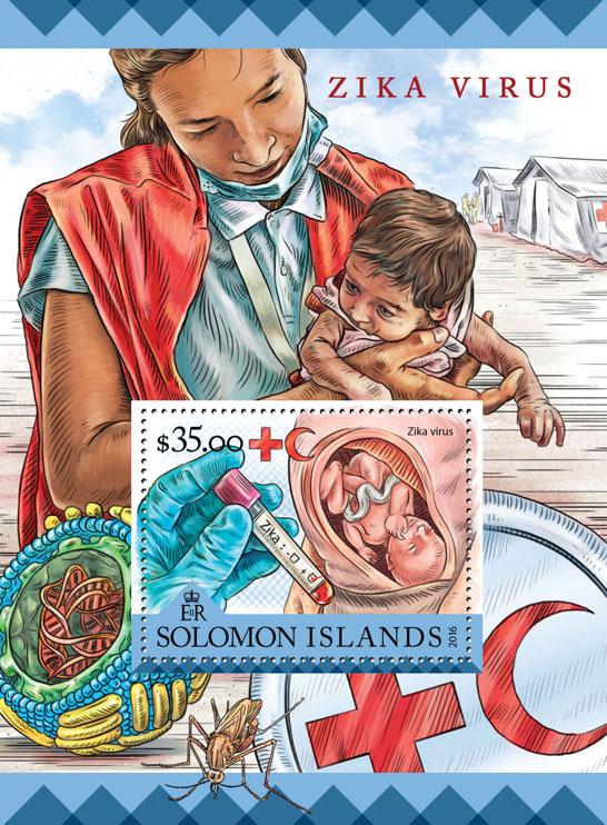 Zika virus - Issue of Solomon islands postage stamps