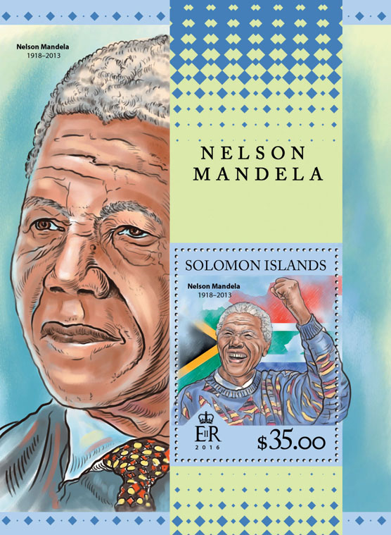 Nelson Mandela - Issue of Solomon islands postage stamps