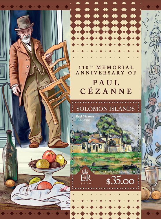 Paul Cézanne - Issue of Solomon islands postage stamps