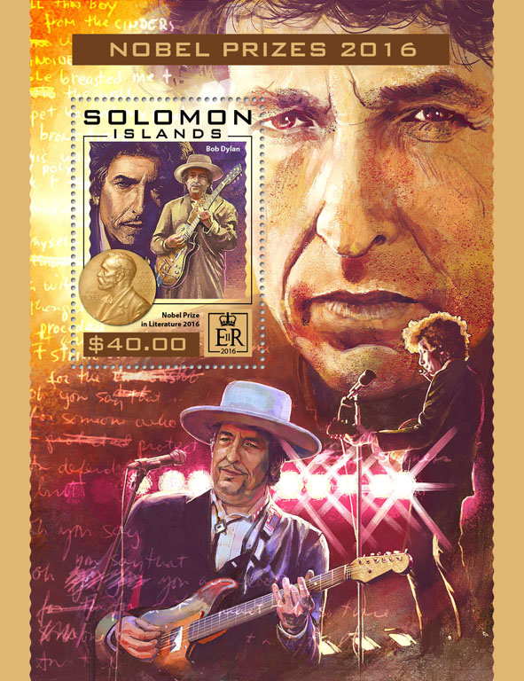 Nobel prizes - Issue of Solomon islands postage stamps