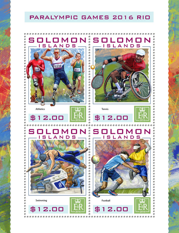 Paralympic Games - Issue of Solomon islands postage stamps