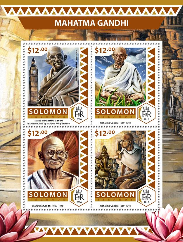 Mahatma Gandhi - Issue of Solomon islands postage stamps