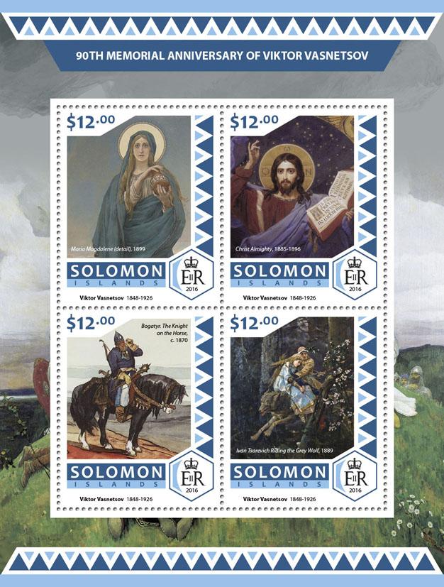 Viktor Vasnetsov - Issue of Solomon islands postage stamps