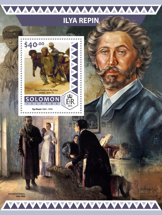Ilya Repin - Issue of Solomon islands postage stamps