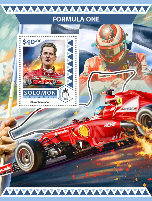 Formula 1 - Issue of Solomon islands postage stamps