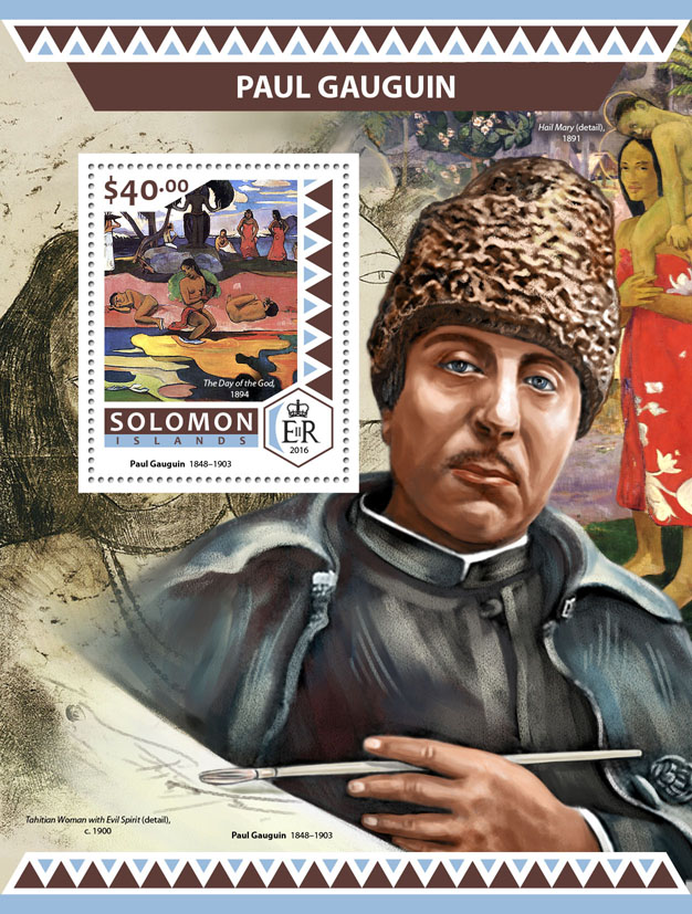 Paul Gauguin - Issue of Solomon islands postage stamps