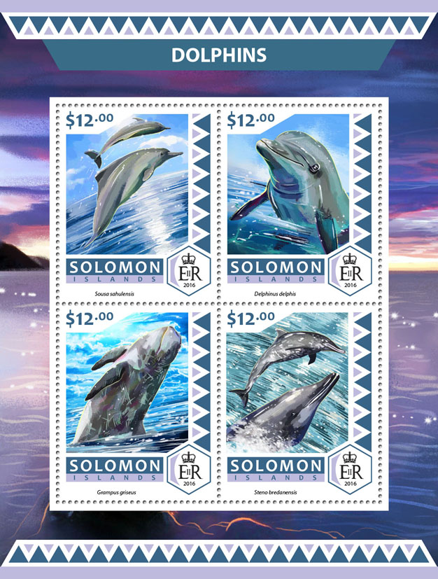 Dolphins - Issue of Solomon islands postage stamps