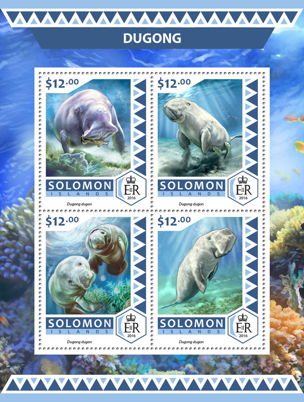 Dugong - Issue of Solomon islands postage stamps