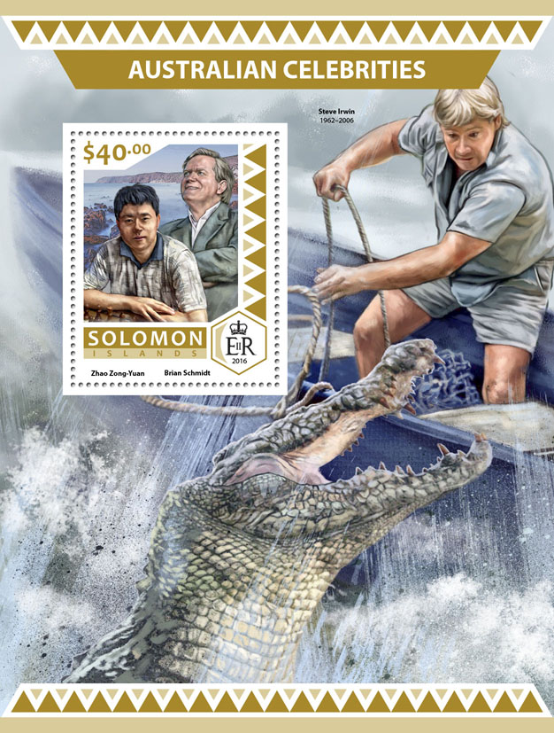 Australian celebrities  - Issue of Solomon islands postage stamps