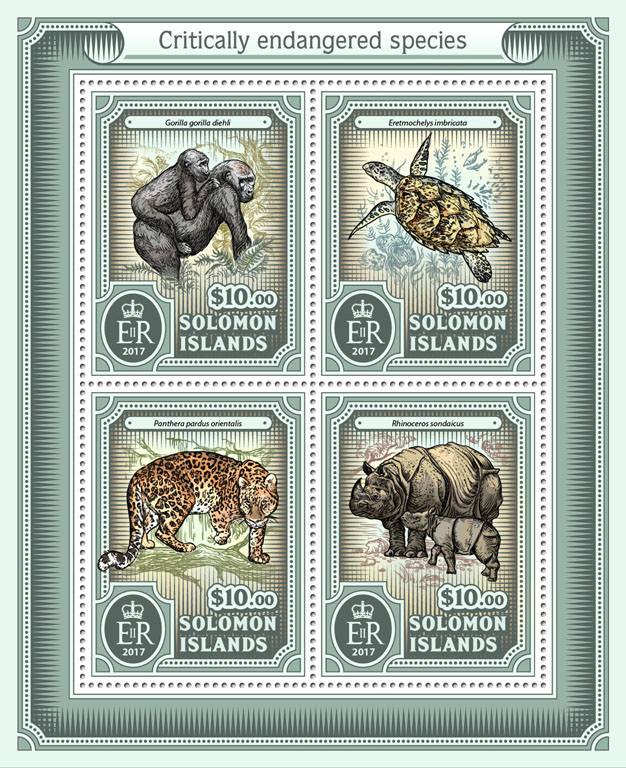 Endangered species - Issue of Solomon islands postage stamps