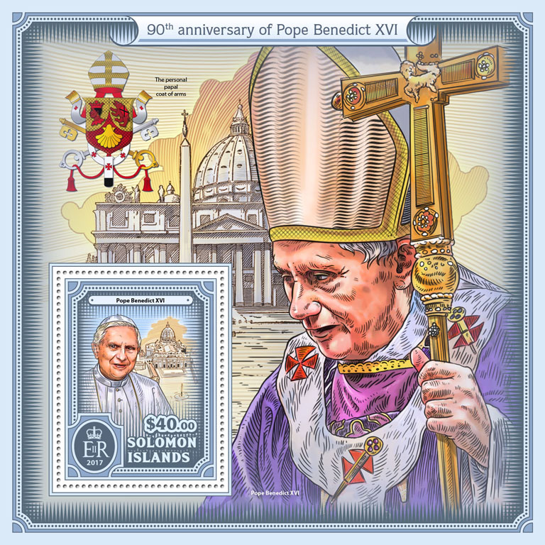 Pope Benedict XVI - Issue of Solomon islands postage stamps