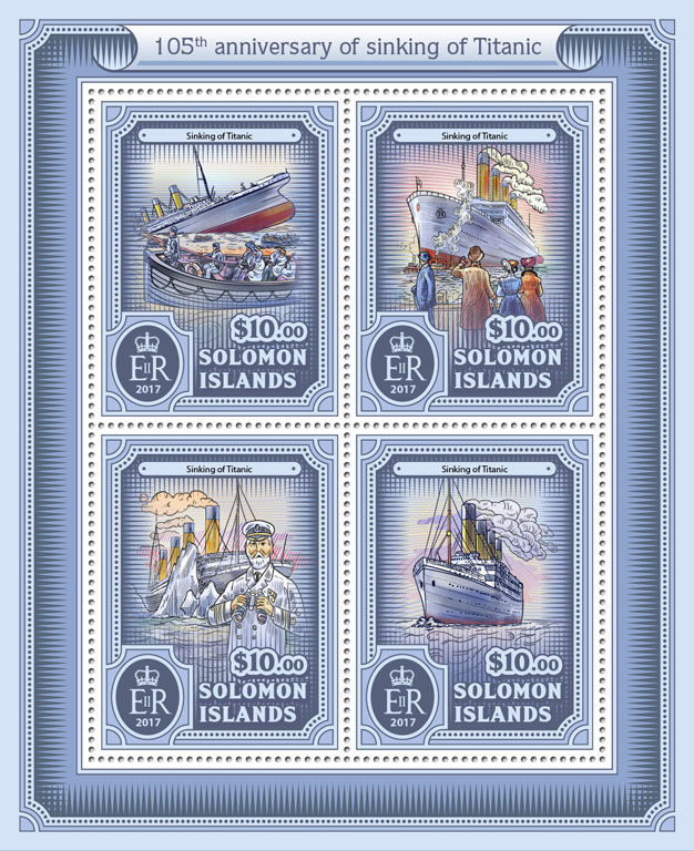 Titanic - Issue of Solomon islands postage stamps