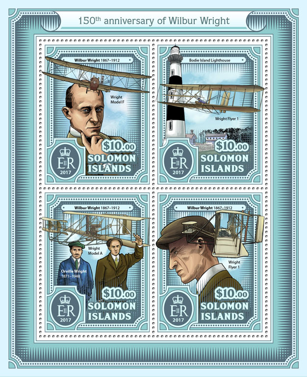 Wilbur Wright - Issue of Solomon islands postage stamps